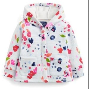 Joules Floral Striped Hooded Jacket size 12-18